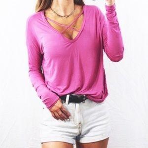 PINK Victoria's Secret Tops - Victoria Secret Pink Long Sleeve Super Soft